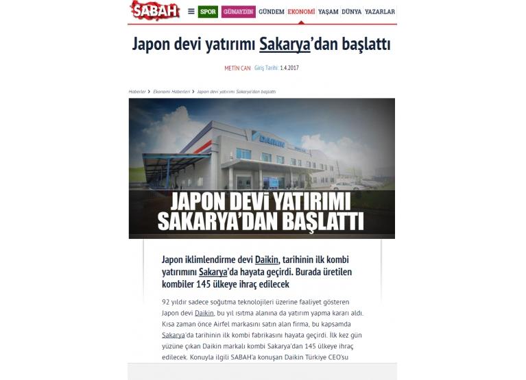 Japon devi yatırımı Sakarya'dan başlattı