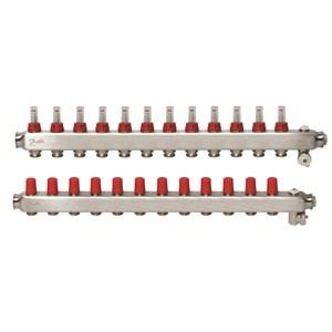 Manifold SSM-F, Paslanmaz çelik, Yerden ısıtma manifold bağlantı ağzı [devre] [Maks.]: 12, 6 bar