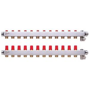 Manifold SSM, Paslanmaz çelik, Yerden ısıtma manifold bağlantı ağzı [devre] [Maks.]: 12, 10 bar